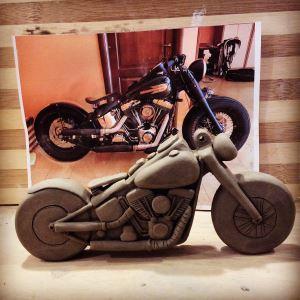 Moto Harley Davidson in ceramica