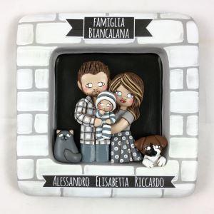Ritratto di famiglia in ceramica