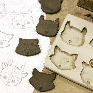 Stampo di gesso per la creazione dei gatti